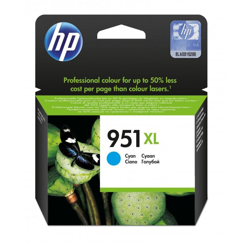 HP - 951XL 1 piezas Original Alto rendimiento XL Cian