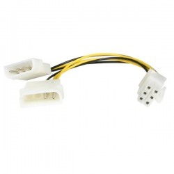 StarTechcom - Cable de 15cm Adaptador de Alimentacin de LP4 a PCI Express de 6 Pines para Tarjeta Grfica