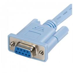 StarTechcom - Cable 18m para Gestin de Router Consola Cisco RJ45 a Serie DB9 - Rollover - Macho a Hembra