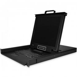 StarTechcom - RKCONS1716K consola de rack 432 cm 17 1280 x 1024 Pixeles Acero Negro 1U