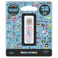 TECH1TECH - TEC4003-32 unidad flash USB 32 GB USB tipo A 20 Multicolor