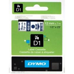 DYMO - D1 - Etiquetas estndar - Azul sobre blanco - 12mm x 7m
