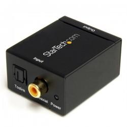 StarTechcom - Adaptador Conversor de Audio Digital Coaxial SPDIF o Toslink ptico a RCA Estreo Analgico