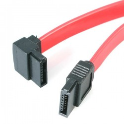 StarTechcom - Cable Datos SATA en ngulo Recto Acodado 7 Pines - 2x Serial ATA Macho - 015m - SATA6LA1