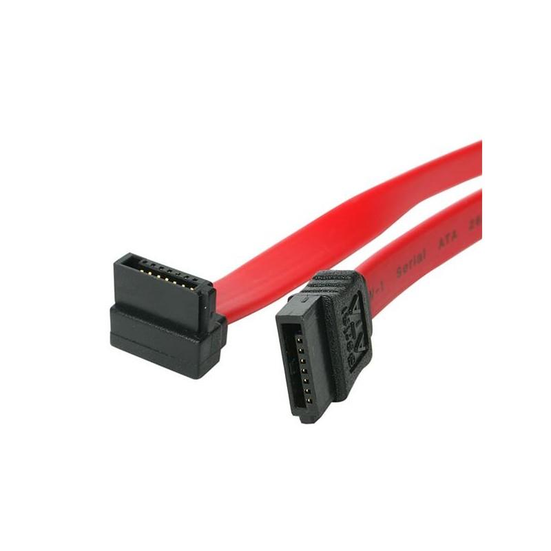 StarTechcom - Cable Datos SATA en ngulo Recto Acodado 7 Pines - 2x Serial ATA Macho - 015m - SATA6RA1