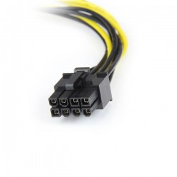 StarTechcom - Cable de 15cm Adaptador de Alimentacin de LP4 a PCI Express PCIe de 8 Pines para Tarjeta Grfica