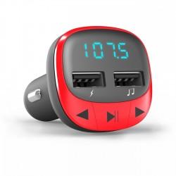 Energy Sistem - 44825 transmisor FM 875 - 108 MHz Encendedor de cigarrillos Rojo