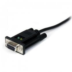 StarTechcom - Cable Adaptador de 1 Puerto USB a Mdem Nulo Null DB9 RS232 Serie DCE con FTDI