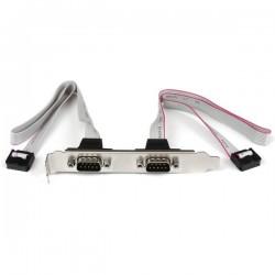 StarTechcom - Cabezal Bracket 2 puertos COM de Serie Serial - 2x DB9 Macho - 2x IDC10 Hembra