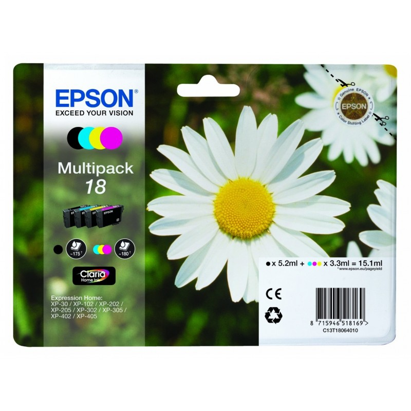 Epson - Daisy Multipack 18 4 colores - C13T18064010