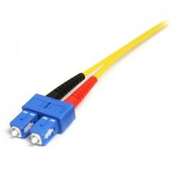 StarTechcom - Cable Adaptador de Red de 1m Monomodo Dplex Fibra ptica LC-SC - Patch Duplex Modo Sencilla