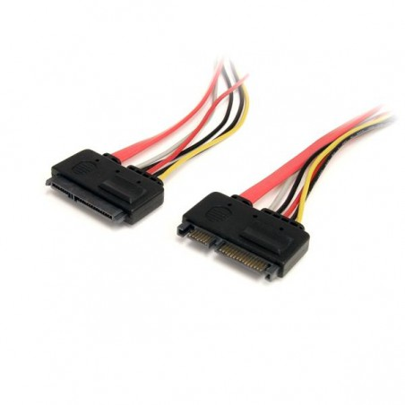 StarTechcom - Cable de Extensin SATA de 22 Pines - Serial ATA Macho - SATA Hembra - 03m