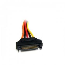 StarTechcom - Cable de 20cm de Extensin de Alimentacin Corriente SATA - 15 pines