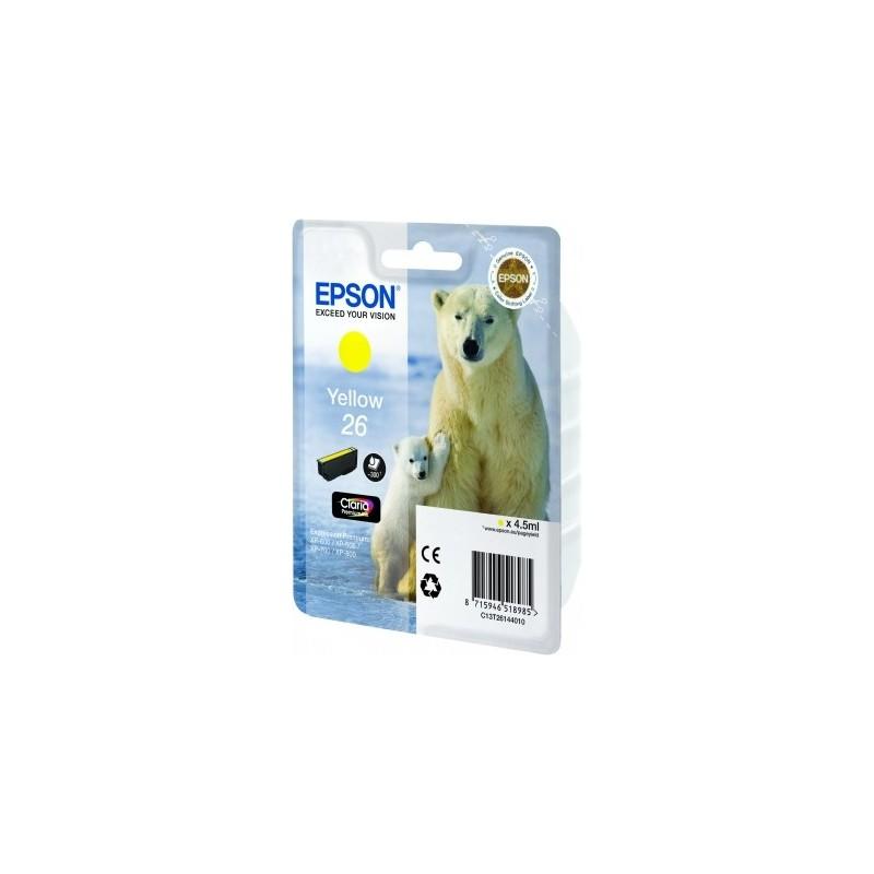 Epson - Polar bear Cartucho 26 amarillo - C13T26144010