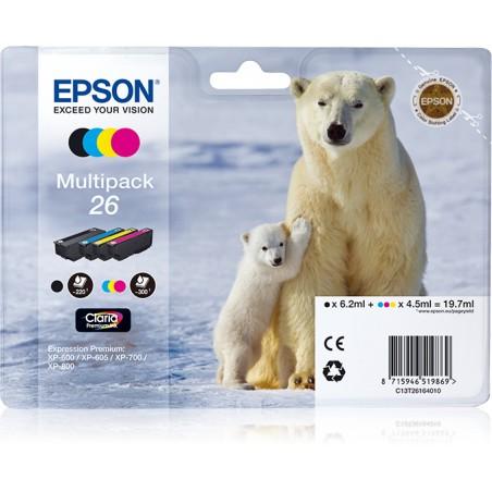 Epson - Polar bear Multipack 26 4 colores etiqueta RF