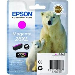 Epson - Polar bear Cartucho 26XL magenta - C13T26334010