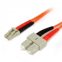 StarTechcom - Cable Adaptador de Red de 1m Multimodo Dplex Fibra ptica LC-SC 625/125 - Patch Duplex