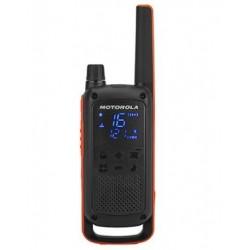 Motorola - T82 Twin Pack  Chgr two-way radios 16 canales Negro Naranja
