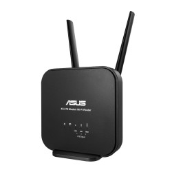 ASUS - 4G-N12 B1 router inalmbrico Banda nica 24 GHz Ethernet rpido Negro