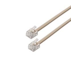 AISENS - A143-0318 cable telefnico 3 m Gris
