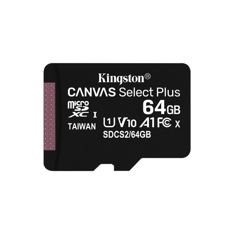Kingston Technology - Canvas Select Plus memoria flash 64 GB MicroSDXC Clase 10 UHS-I - SDCS2/64GB