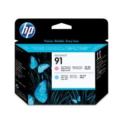 HP - Cabezal de impresin 91 magenta claro y cian claro