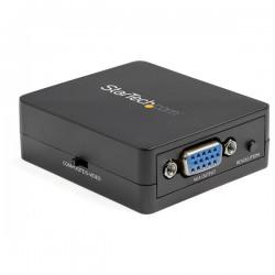 StarTechcom - Conversor Adaptador de Vdeo Compuesto a VGA con Escalador de Vdeo 1920x1200 - Mac y Win - Convertidor S-Video a
