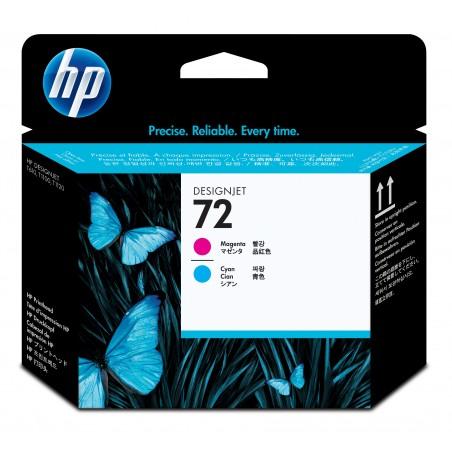 HP - Cabeote de impresso magenta e ciano 72 DesignJet Cian Magenta