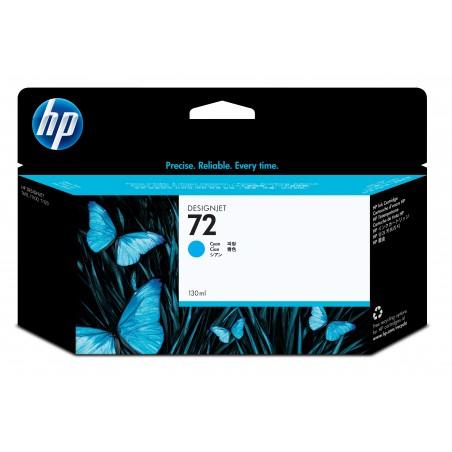 HP - Cartucho de tinta ciano 72 DesignJet 130 ml 1 piezas Original Alto rendimiento XL Cian