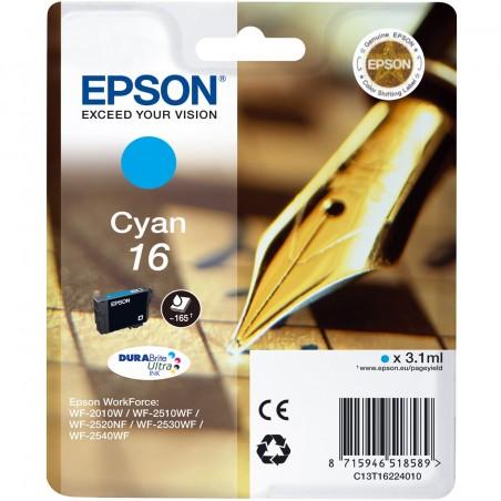 Epson - Pen and crossword Cartucho 16 cian - C13T16224010