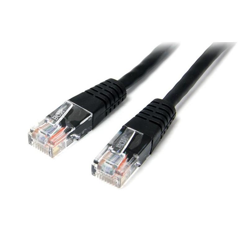 StarTechcom - Cable de Red Ethernet 15m UTP Patch Cat5e Cat 5e RJ45 Moldeado - Negro