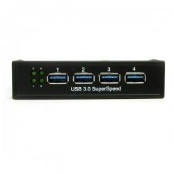 StarTechcom - Panel Multipuertos Hub Concentrador USB 30 SuperSpeed para Baha Frontal de 35 o 525 Pulgadas