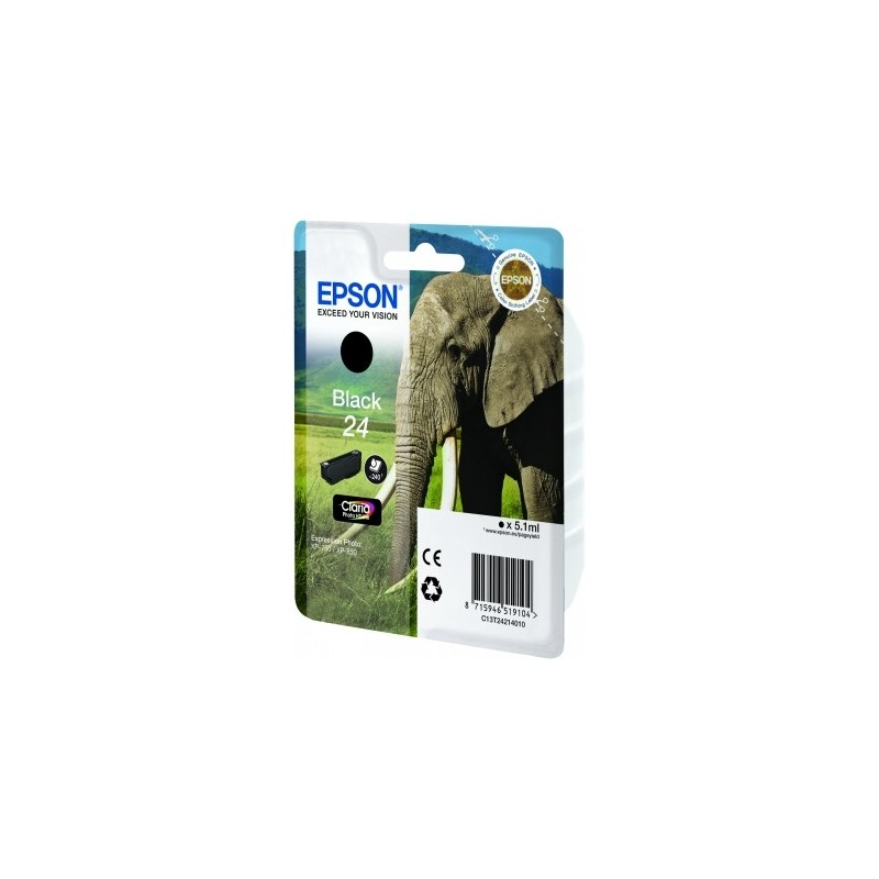 Epson - Elephant Cartucho 24 negro - C13T24214010