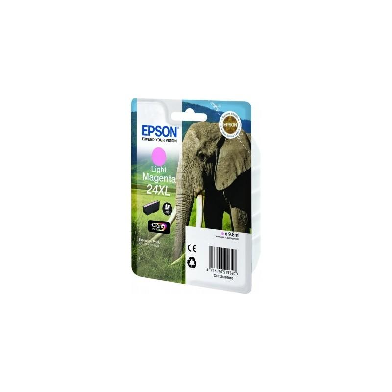 Epson - Elephant Cartucho 24XL magenta claro - C13T24364010