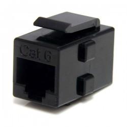 StarTechcom - Caja de Empalme Acoplador Keystone Cable Cat5 Ethernet UTP - 2x Hembra RJ45 - Negro