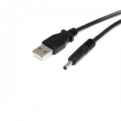 StarTechcom - Cable Adaptador de Alimentacin de 90cm USB a Conector Coaxial Tipo H 5V DC - Macho a Macho