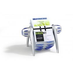Durable - Visifix flip acollador de tarjeta Azul Plata
