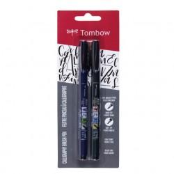 Tombow - WS-BHS-2P pluma fuente Negro 2 piezas