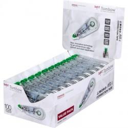 Tombow - CT-CA4-20 correccin de pelculo/cinta Verde Transparente Blanco 10 m 20 piezas