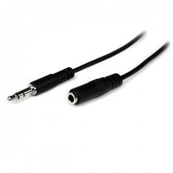 StarTechcom - Cable de 1m de Extensin Alargador de Auriculares Mini-Jack 35mm 3 pines Macho a Hembra