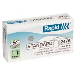 Rapid - 24/6 Paquete de grapas 1000 grapas