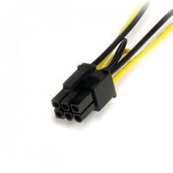 StarTechcom - Cable Adaptador 15cm Alimentacin SATA a Conector 6 Pines de Corriente de Tarjeta Grfica PCI Express PCIe