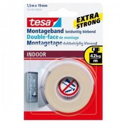TESA - Nastro biadesivo 19mm x 15m cinta adhesiva 15 m Transparente