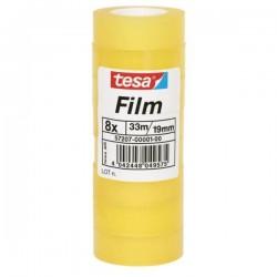 TESA - 57207-00001-00 cinta adhesiva 33 m Transparente 8 piezas