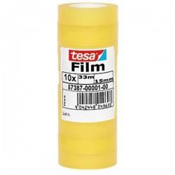 TESA - 57387-00001-00 cinta adhesiva 33 m Transparente 10 piezas