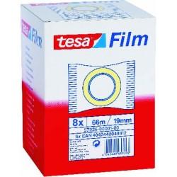TESA - 57226 cinta adhesiva 66 m Transparente 8 piezas