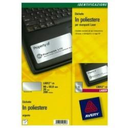 Avery - L6012-20 etiqueta de impresora Plata