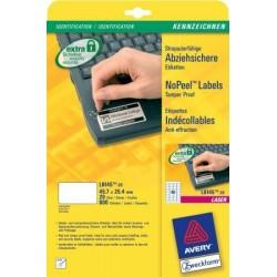 Avery - L6145-20 etiqueta de impresora Blanco