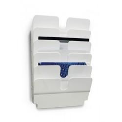 Durable - FLEXIPLUS estantera para libros 6 estanteras Blanco