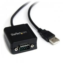 StarTechcom - Cable Adaptador 18m USB a 1 Puerto Serie Serial RS232 DB9 FTDI Aislamiento ptico